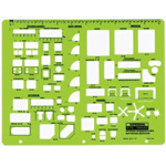 "Rapidesign® Interior Design – Kitchen Bathroom & Bedroom Template: 1/4"" = 1', (model 716R), price per each"
