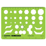 "Rapidesign® Chemical Ring Template: 5"" x 6 7/8"" x .040"", Electric/Electronic, (model 83R), price per each"
