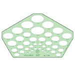 "Timely® Isometric Ellipse Template: 3/32"" - 1 9/16"", (model 94T), price per each"
