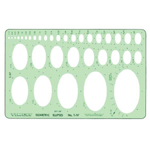 "Timely® Isometric Ellipses Template: 1/16"" - 2 1/2"", (model 97T), price per each"