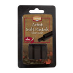 Heritage Arts™ Char-Cole Artist Soft Pastel 3-Pack; Color: Black/Gray; Format: Stick; Type: Soft; (model ACC3), price per set
