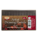 Heritage Arts™ Artist Drawing Pastels Black 12-Pack Set: Black/Gray, Stick, Drawing, (model ADP12BK), price per set