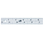 "Fairgate® 12"" Aluminum Straightedge Ruler: Metallic, Aluminum, 12"", General Purpose, (model AR701-12), price per each"