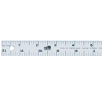 "Fairgate® 24"" Aluminum Straightedge Ruler: Metallic, Aluminum, 24"", General Purpose, (model AR701-24), price per each"