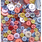 "Buttons Galore & More Button Bonanza Grab Bag Pastel; Color: Multi; Material: Plastic; Shape: Round; Size: 3/8"" - 1""; (model BB16), price per each"