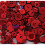 "Buttons Galore & More Button Bonanza Grab Bag Fire Engine Red; Color: Red/Pink; Material: Plastic; Shape: Round; Size: 3/8"" - 1""; (model BB31), price per each"