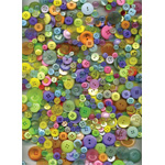 "Buttons Galore & More Button Bonanza Grab Bag Candy Store; Color: Multi; Material: Plastic; Shape: Round; Size: 3/8"" - 1""; (model BB52), price per each"