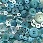 "Buttons Galore & More Button Bonanza Grab Bag Waterfall; Color: Blue; Material: Plastic; Shape: Round; Size: 3/8"" - 1""; (model BB62), price per each"