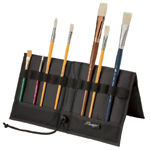 "Heritage Arts™ Brush & Tool Holder 14 1/2"" x 16""; Capacity: 12 Slots; Color: Black/Gray; Material: Nylon; Size: 12 3/4"" x 13 1/2"", 14 1/2"" x 16""; Type: Brush and Tool Holder; (model BH70), price per each"