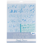 "Blue Hills Studio™ Lettering Stencil Set Simply Sincere; Scale: 1"", 3/8""; Type: Lettering; (model BHS104SET), price per set"