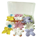 "Flower Pack 6-Color Assortment; Color: Multi; Material: Paper; Size: 2""+; Type: Dimensional; (model BHS107511), price per pack"