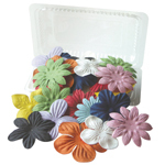 "Flower Pack 10-Color Assortment; Color: Multi; Material: Paper; Size: 2""+; Type: Dimensional; (model BHS107512), price per pack"