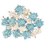 Blue Hills Studio Irene's Garden Box O'Gardenia: Light Blue & White, 20 Pieces