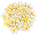 "Blue Hills Studio™ Irene's Garden™ Pack O'Plumerias Yellow Splash: Yellow, Paper, 2"", Dimensional, (model BHS107526), price per pack"