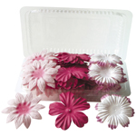 "Flower Pack Pink/Hot Pink; Color: Red/Pink; Material: Paper; Size: 2""+; Type: Dimensional; (model BHS10757), price per pack"