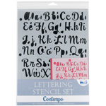 "Blue Hills Studio™ Lettering Stencil Set Contempo: 1"", 3/8"", Lettering, (model BHS107SET), price per set"