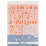 "Blue Hills Studio™ Lettering Stencil Set Animation; Scale: 1"", 3/8""; Type: Lettering; (model BHS111SET), price per set"