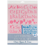 "Blue Hills Studio™ Lettering Stencil Set Once Upon a Time: 1"", 3/8"", Lettering, (model BHS112SET), price per set"