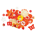 Blue Hills Studio™ Irene's Garden™ Potpourri Paper Flower & Embellishment Pack Oranges; Color: Orange; Material: Paper; Size: 20 mm, 30 mm, 50 mm - 52 mm; Type: Dimensional; (model BHS38), price per pack