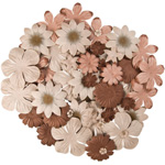 "Blue Hills Studio™ Irene's Garden™ Jar O'Blooms Tans: Brown, Paper, 2 1/2"", Dimensional, (model BHS811), price per each"