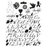 "Blue Hills Studio™ Breast Cancer Awareness Lettering Template; Size: 7 1/2"" x 9 1/2""; Type: Lettering; (model BHSHOPET), price per each"