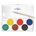 Finetec Preschool Watercolor Paint 6-Color Set: 2B, Drawing, (model F6000), price per set