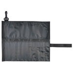 "Heritage Arts™ Roll-Up Brush Holder Short Brushes; Capacity: 18 Brushes; Color: Black/Gray; Length: Short Handle; Material: Nylon; Size: 10 1/2"" x 13""; Type: Roll-Up Brush Holder; (model HC9206), price per each"