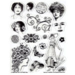"""Hot Off the Press Clear Acrylic Stamp Set Vintage Ladies: Acrylic, No, 5 1/2"""" x 7"""", (model HOTP1015), price per each"""