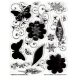 """Hot Off the Press Clear Acrylic Stamp Set Silhos & Shadows: Acrylic, No, 5 1/2"""" x 7"""", (model HOTP1026), price per each"""