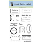 "Hot Off the Press Clear Stamp Set: Made by Me Labels, 3½"" x 5"""