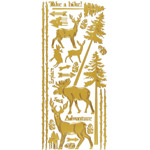 "Dazzles™ Stickers Outdoors Gold: Metallic, 4"" x 9"", Outline, (model HOTP2009), price per each"
