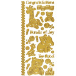 "Dazzles™ Stickers Baby Gold: Metallic, 4"" x 9"", Outline, (model HOTP2010), price per each"
