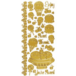 "Dazzles™ Stickers Sweet Treats Gold: Metallic, 4"" x 9"", Outline, (model HOTP2015), price per each"