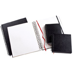 "Heritage Arts™ Wirebound Sketchbook 10 x 10: Wire Bound, White/Ivory, Book, 110 Sheets, 10"" x 10"", 70 lb, (model HWB1010), price per each"