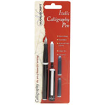 Manuscript Italic Calligraphy Pen Set; Color: Black/Gray; Ink Type: Fountain; Nibs Included: Yes; Tip Type: Medium Nib; Type: Calligraphy; (model MC1605), price per set