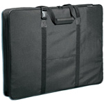 "Prestige™ Carry-All™ Soft-Sided Art Portfolio 20"" x 26""; Color: Black/Gray; Gusset Size: 3""; Material: Nylon; Size: 20"" x 26""; (model MN2026), price per each"