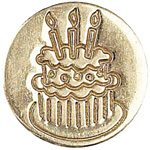Manuscript Decorative Wax Sealing Coin Cake; Shape: Round; Size: 15 mm; (model MSH727CAK), price per each