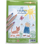 Finetec Chubby Colored Pencil 12-Color Set; Color: Multi; Format: Pencil; Type: Colored; (model P005), price per set