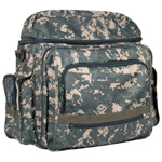 "Heritage Arts™ Traveler Artist Backpack Forest Camo; Color: Green; Material: Canvas; Size: 6""d x 12""w x 15""h; (model PACK-A), price per each"