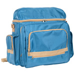 "Heritage Arts™ Traveler Artist Backpack Sand & Sea; Color: Blue; Material: Canvas; Size: 6""d x 12""w x 15""h; (model PACK-B), price per each"