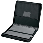 "Prestige™ Elegance™ Series Presentation Case 11 x 17: Black/Gray, Vinyl, 10 Pages, 10 Protective Sleeves, 11"" x 17"", (model PCA1117), price per each"