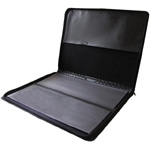 "Prestige™ Premier™ Black Series Leather Presentation Case 17"" x 22"": Black/Gray, Leather, 17"" x 22"", (model PCL1722), price per each"