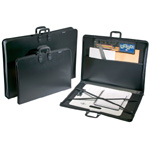 "Prestige™ Studio™ Series Art Portfolio 3"" Gusset 14"" x 18"": Black/Gray, 3"", Polypropylene, 14"" x 18"", (model PP1418-3), price per each"