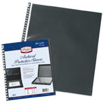 "Prestige™ Archival Protective Sleeve 11"" x 17"": Black/Gray, Polypropylene, 11"" x 17"", (model RF11DS), price per pack"