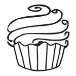 Sarasota Stamps Mounted Rubber Stamp Cupcake Mini: Rubber, Mounted, (model SSB-3508), price per each