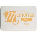 Memories™ Dye Ink Pad Honey; Color: Yellow; Format: Pad; Ink Type: Dye-Based; Shape: Full Size Rectangle; (model SSDMHO), price per each