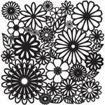 "The Crafter's Workshop 12"" x 12"" Journal and Design Template Flower Frenzy; Size: 12"" x 12""; Type: Patterned Stencil; (model TCW157), price per each"