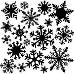 "The Crafter's Workshop 12"" x 12"" Design Template Flurries; Size: 12"" x 12""; Type: Patterned Stencil; (model TCW164), price per each"