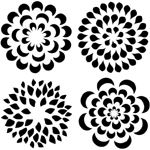 "The Crafter's Workshop 12"" x 12"" Design Template Mums; Size: 12"" x 12""; Type: Patterned Stencil; (model TCW173), price per each"