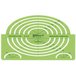"Alvin® Large Isometric Ellipse; Scale: 1 1/2"" - 2"", 2"" - 7""; (model TD1124), price per each"